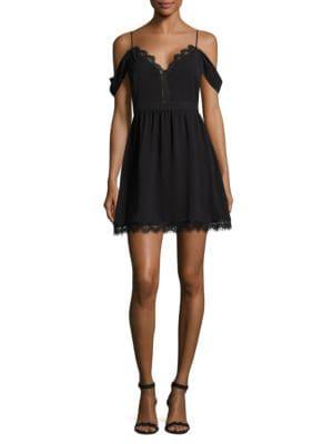Cold-Shoulder Fit-&-Flare Dress by Wayf