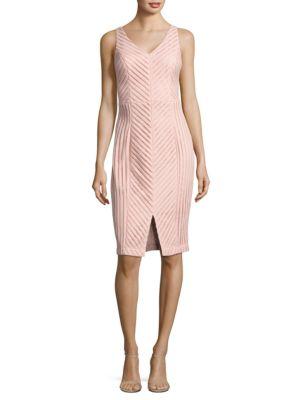 Textured Sheath Dress by Eliza J