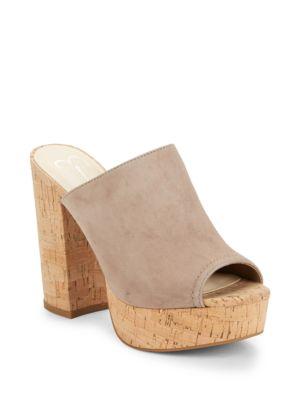 Giavanna Cork Platform Sandals by Jessica Simpson