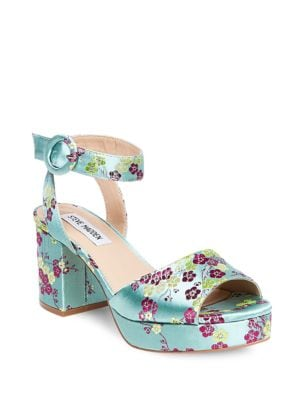 Tickle Mulst Floral Dress Sandals by Steve Madden