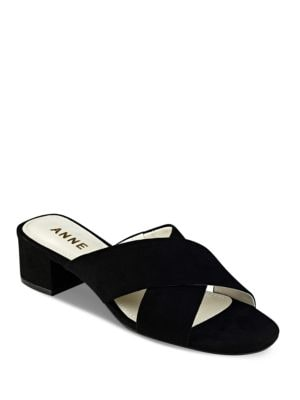 Sansa Textile Slide Sandals by Anne Klein