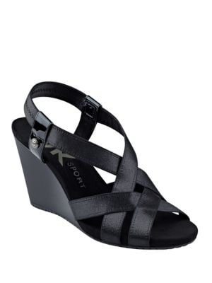 Taryn Wedge Sandals by Anne Klein
