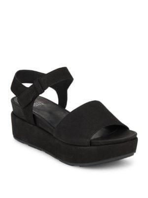 Jasper Suede Platform Sandals by Eileen Fisher