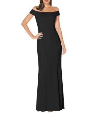 Off-The-Shoulder Crisscross Gown by Laundry by Shelli Segal