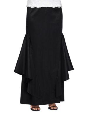 Textured Column Skirt by Alex Evenings
