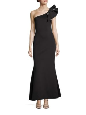 Solid One-Shoulder Gown by Aidan Aidan Mattox