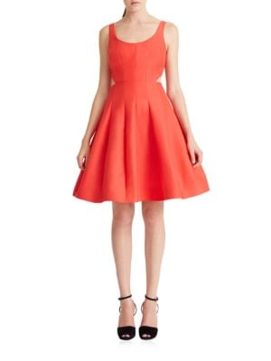 Solid Flared Dress by Halston Heritage