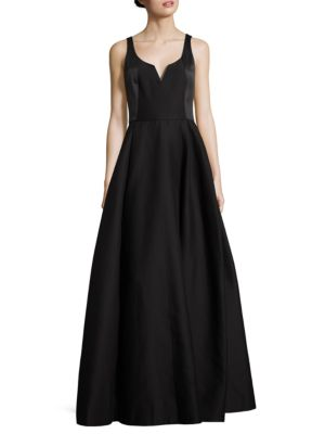 Silk Blend Faille Gown by Halston Heritage