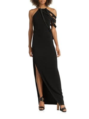 Solid Halter Gown by Halston Heritage