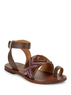 Photo of Torrence Leather Toe-Ring Sandals by Free People - shop Free People shoes sales