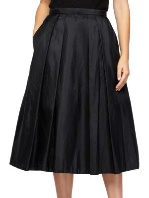 Solid Pleated Skirt by Alex Evenings