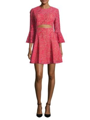 Lace Cutout Dress by BCBGMAXAZRIA