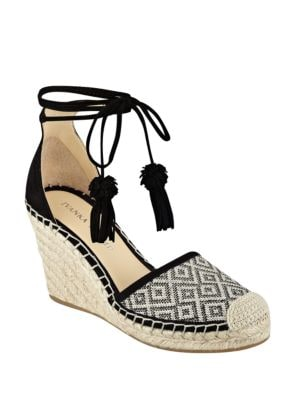 Wadia Suede d Orsay Espadrille Wedges by Ivanka Trump