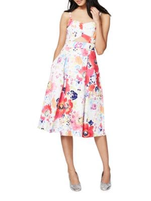 Floral-Print Fit-and-Flared Dress by RACHEL Rachel Roy