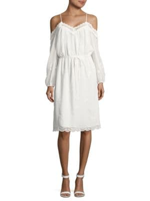 Embroidered Cold-Shoulder Dress by Alex Evenings