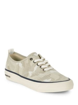 Salt-Washed Lace-Up Sneakers by Seavees