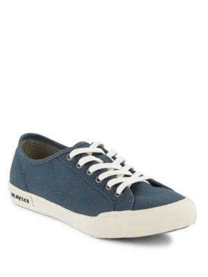 Textured Lace-Up Sneakers by Seavees