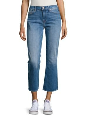 Cropped Cotton-Blend Jeans 500034979385