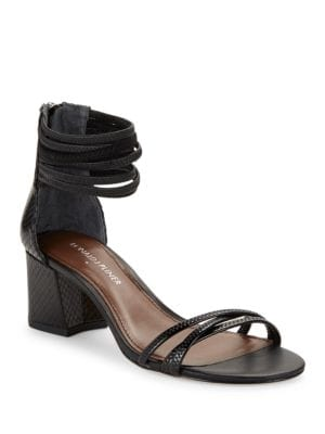 Essie Watersnake Nappa Leather Sandals by Donald J Pliner
