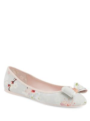 Immet Floral Printed Ballerina Flats by Ted Baker London