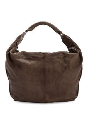 Leather Hobo Bag @...