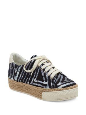 Tala Calf Hair Trimmed Espadrille Platform Sneakers 500035085653