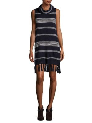 Cowlneck Striped Dress by BB Dakota