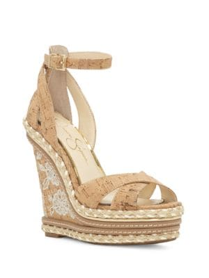 Ahnika Platform Wedge Sandals by Jessica Simpson