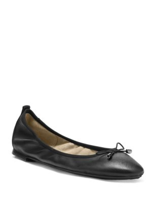 Nalan Leather Ballerina Flats by Jessica Simpson