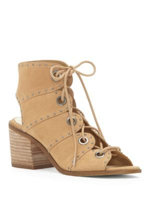 Leather Open Toe Lace-Up Sandals by Jessica Simpson