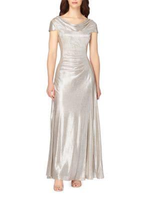 Cowlneck A-line Gown by Tahari Arthur S. Levine
