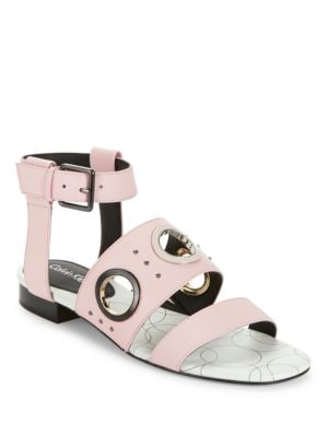Amanda Leather Sandals by Calvin Klein