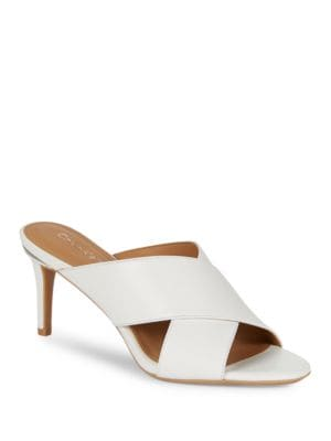 Lucie Leather Sandals by Calvin Klein
