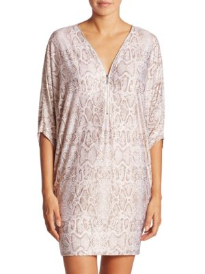 Wild Story Snakeskin-Printed Cover-Up by Carmen Marc Valvo