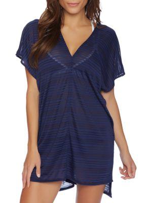 Soho Stripe V-Neck Dress by Nautica