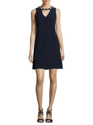 A-Line Sleeveless Embellished Dress by Taylor