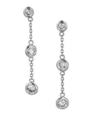 0.75 TCW Diamond and 14K White Gold Earrings