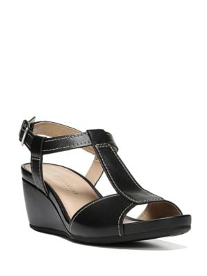 Camilla Leather and Cork Wedge Sandals by Naturalizer