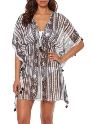 Smock It To Ya Printed Kaftan Cover-Up by Bleu By Rod Beattie