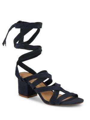 Idalina Lace-Up Suede Sandals by Lucky Brand