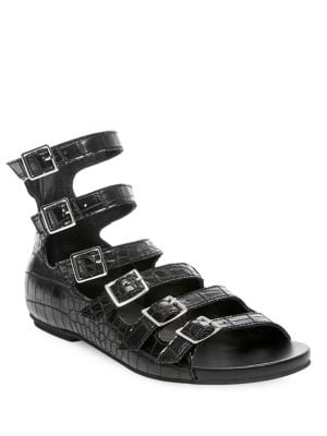 Croco Textured Sandals by Design Lab Lord & Taylor