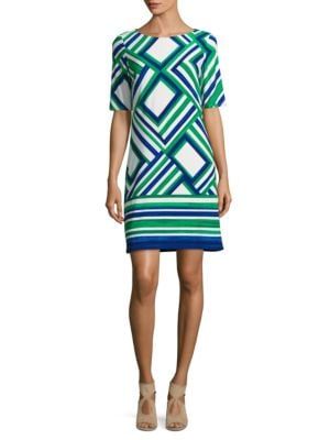 Geometric-Print Sheath Dress by Vince Camuto