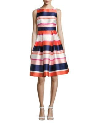 Striped Fitand Flare Dress by Eliza J