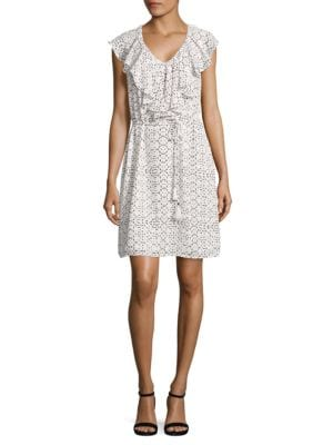 Ruffled Print Dress by Ivanka Trump