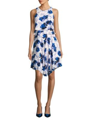 Floral-Print Ruffled Popover Dress by Ivanka Trump