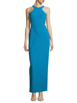 Sleeveless Cutout Column Gown by Calvin Klein