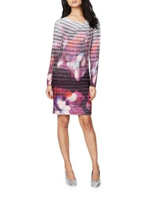 Long-Sleeve Floral Sheath Dress by RACHEL Rachel Roy