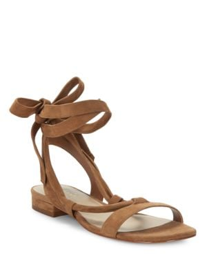 Yasmin Suede Sandals by 424 Fifth