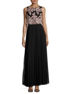 Pleated Long Skirt by Betsy & Adam