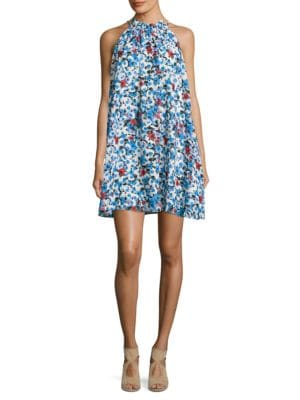 Floral-Print Halterneck Dress by Belle Badgley Mischka